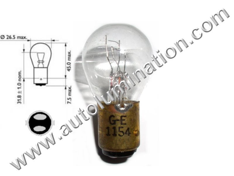 Lot of 5 GE 1133 RP11 Lamp 6.2 volts 24 watts