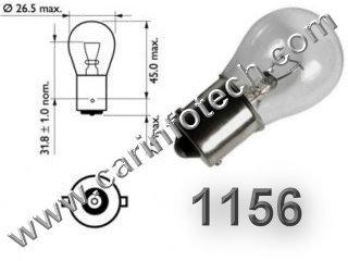 #1156, 1156 (Single Circuit), P21W, 1141, 1093, 1141, 1159, 1295, 1459, 1651, 7506, 7527, 2EI2011 Wagner, 17635, Ba15s, Miniature Bulb Ba15S Base, 12.8 Volt, 2.1 Amp, 27 Watt, S8, SC Bayonet Base, 1200 Hour