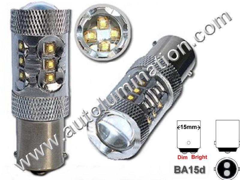1158 Ba15d Optical Eagle Eye Tower 80 Watt 16X Cree 6V