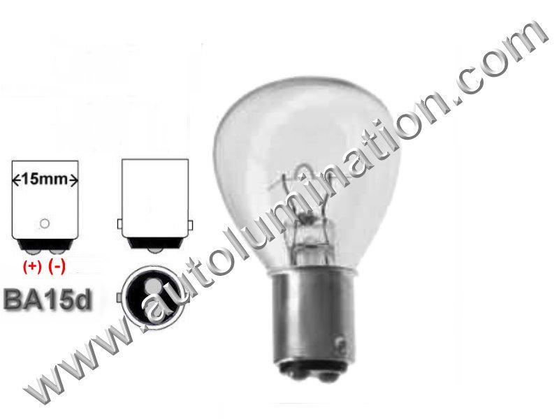 #1184 Miniature Bulb Ba15d Base, 5.5 Volt, 6.25 Amp, RP-11, DC Bayonet Base, 100 Hour