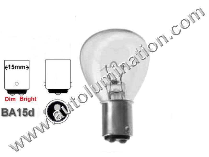 #1188 Miniature Bulb Ba15d Base, 5.5 Volt, 6.25 Amp, RP-11, DC Bayonet Base, 100 Hour