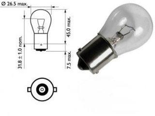 #1680, 1680, 1129, 1619, 1680, Miniature Bulb Ba15s Base, 6V Volt, 4.1 Amp, 24.6 Watt,S8, SC Bayonet Base, 300 Hour