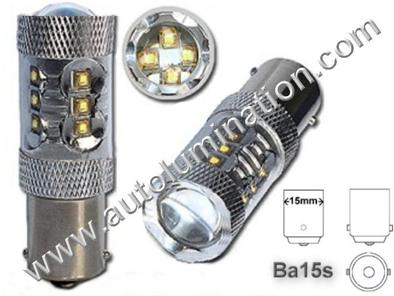 1680 Ba15s Optical Eagle Eye Tower 80 Watt 16X Cree 6V