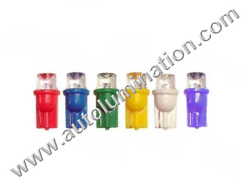 6 Volt 147 259 285 447 555 W5W Wedge T10 1led Concave 6 Volt Bulb