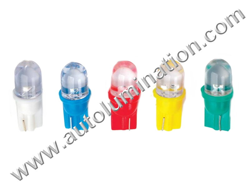 6 Volt 147 259 285 447 555 W5W Wedge T10 1led Focused 6 Volt Bulb