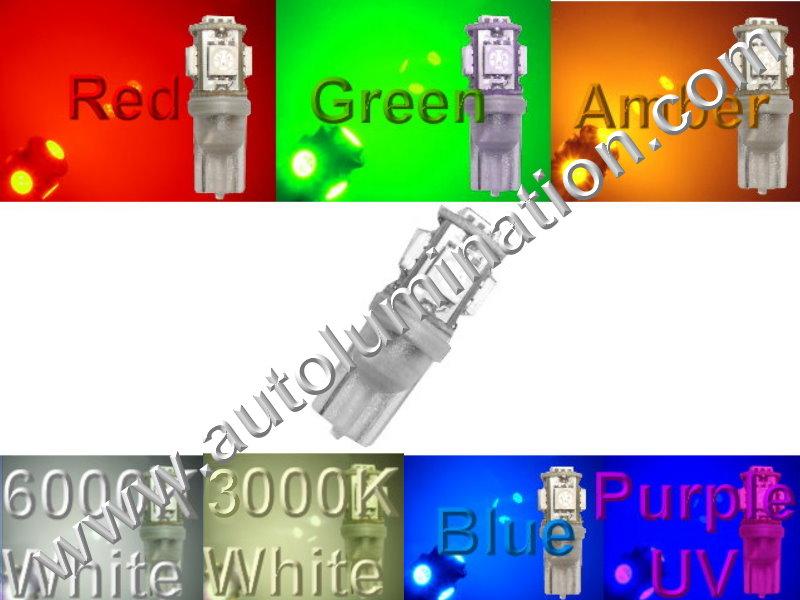 6 Volt 147 259 285 447 555 W5W Wedge T10 5led 5050SMD 6 Volt Bulb