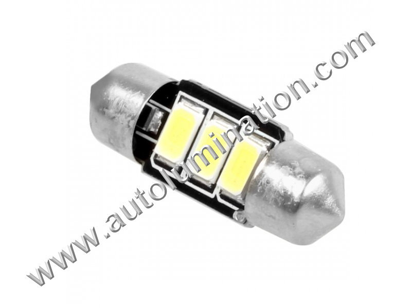6 Volt 6244,6297.6427 31mm Festoon 3led 5630SMD 6 Volt Bulb