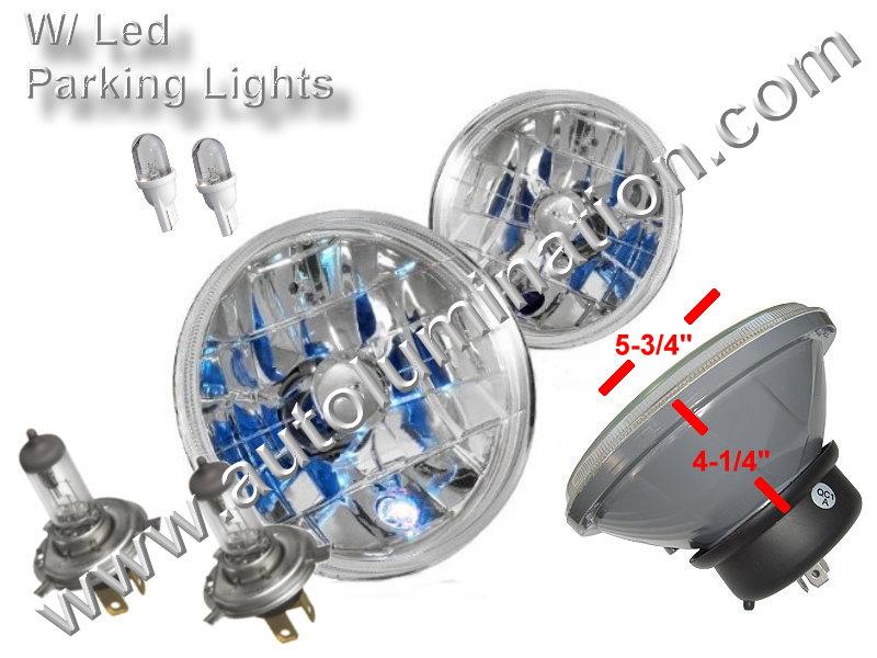 Sealed Beam, PAR 46, 4012, 4020, Headlight, Head Light Bulb, Glass Halogen, 6 Volt, 5.75 Inch Round, 5-3/4
