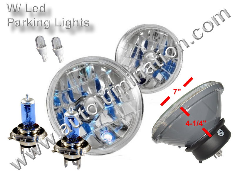 Sealed Beam, PAR 56, 6006, H6006, Headlight, Head Light Bulb, Glass Halogen, 6 Volt, 7 Inch Round, 7
