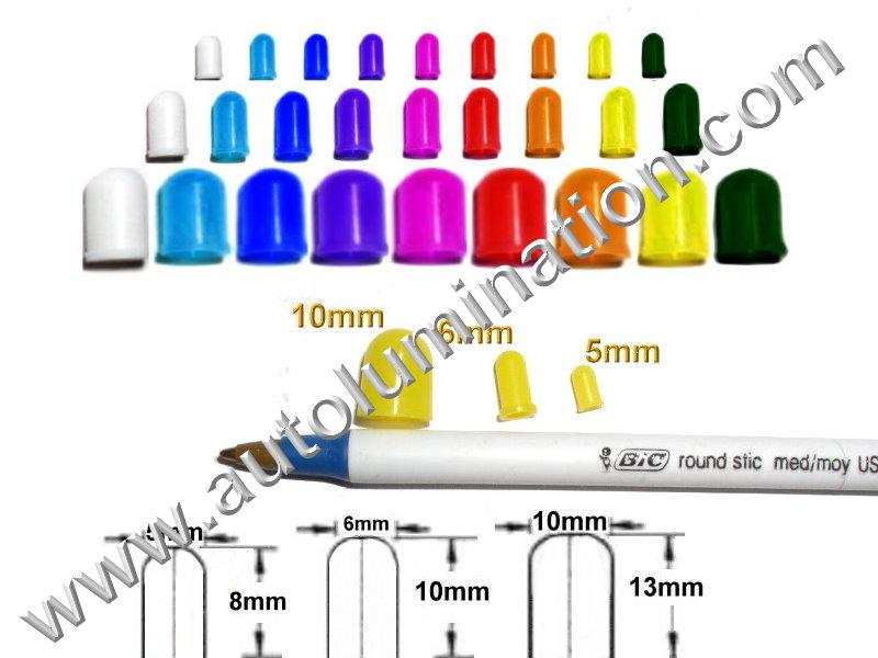 Silicone Colored Bulb Caps