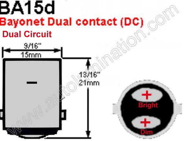 Ba15d 1158 Bulb Base